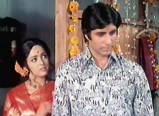 Hema Malini and Amitabh Bachchan in Kasauti