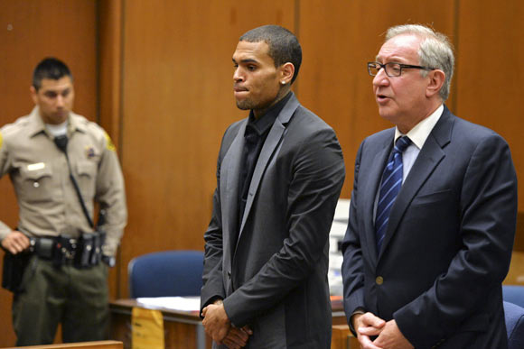 Chris Brown with attorney Mark Geragos