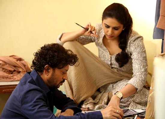 Huma Qureshi and Irrfan Khan in D-Day