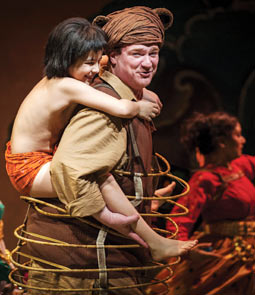 Akash Chopra and Kevin Carolan in The Jungle Book