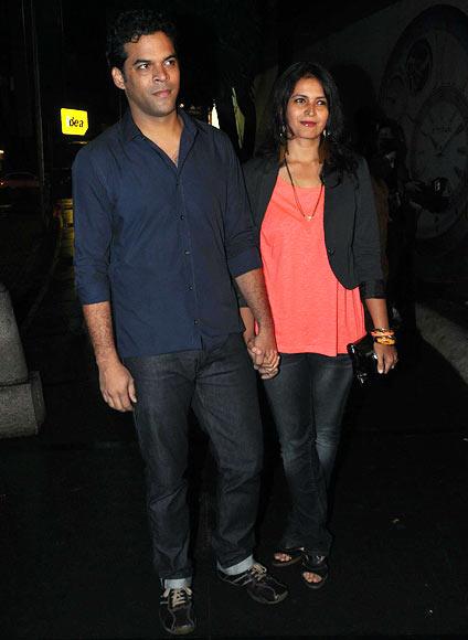 Vikramaditya Motwane with wife Ishika Mohan