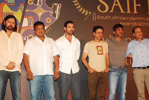 Sameer Arya, Sanjay Gupta, John Abraham, Manoj Bajpayee, Suneil Shetty and Ram Mirchandani
