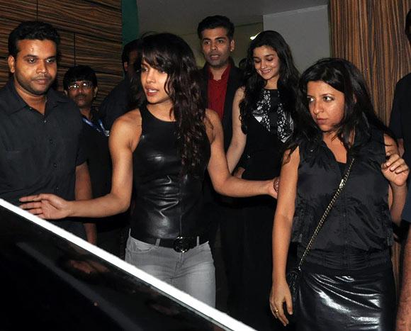 Priyanka Chopra, Karan Johar, Alia Bhatt and Zoya Akhtar