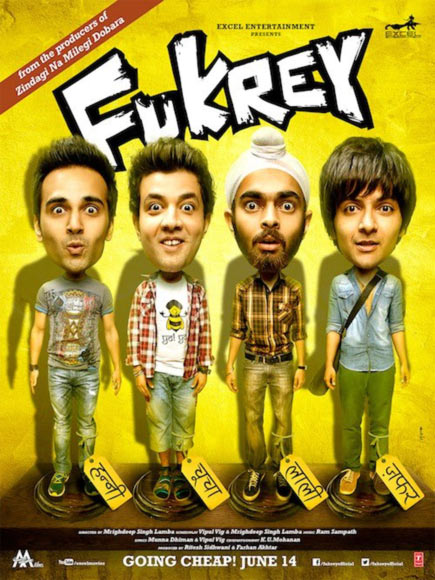 Movie poster of Fukrey