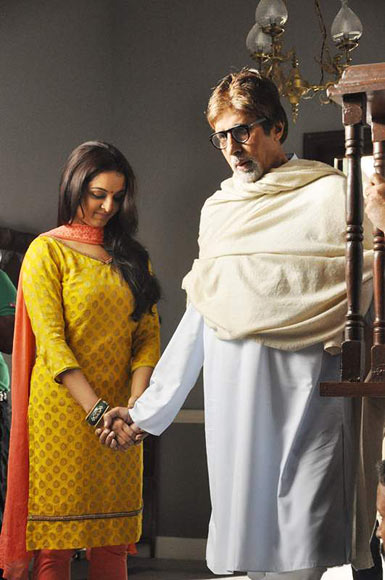 Amitabh Bachchan and Manju Warrier