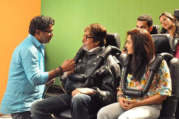 Amitabh Bachchan, Manju Warrier, VA Shrikumar