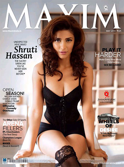 Shruti Haasan on the cover of Maxim