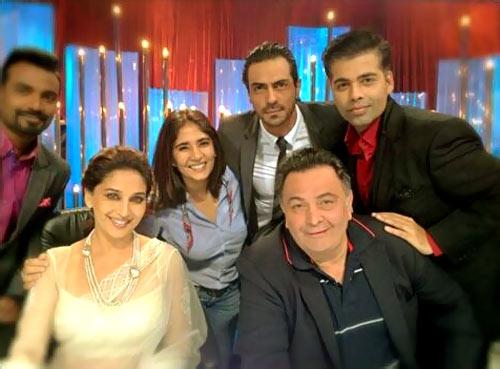 Remo Fernandes, Madhuri Dixit, Rishi Kapoor, Karan Johar and Arjun Rampal