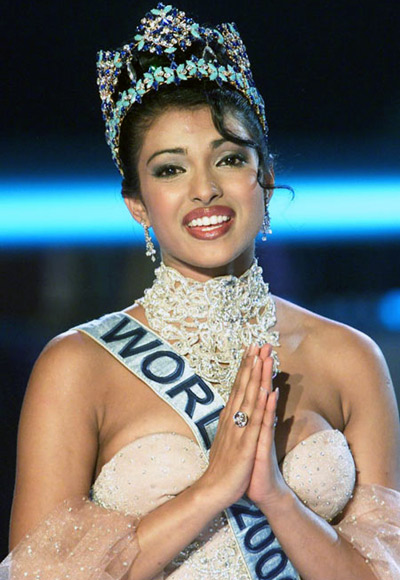 Priyanka Chopra as Miss World in 2000