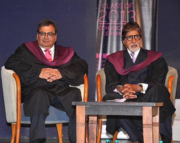 Subhash Ghai and Amitabh Bachchan