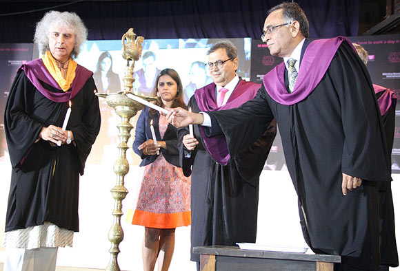 Pandit Shivkumar Sharma, Meghna Ghai-Puri, Subhash Ghai and Ravi Gupta