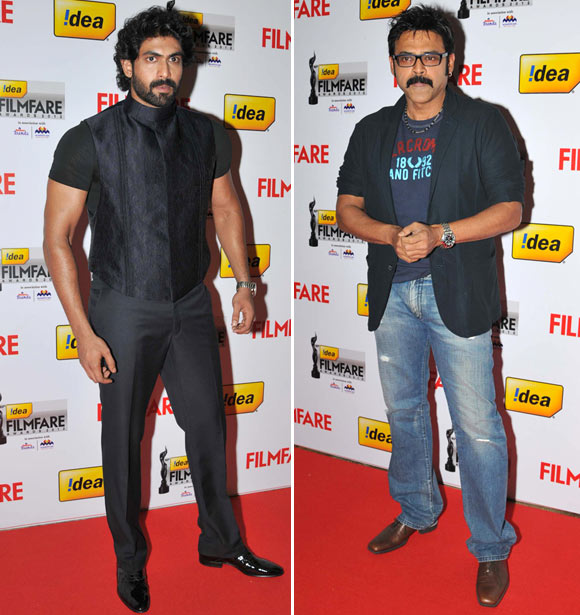 Rana Daggubati and Venkatesh