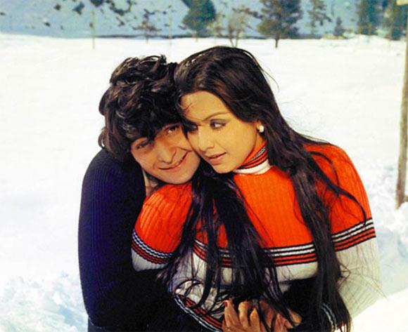 Rishi Kapoor with Neetu Singh in Kabhi Kabhie