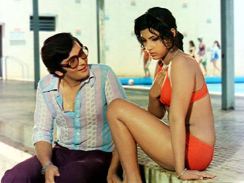 Rishi Kapoor with Dimple Kapadia in Bobby