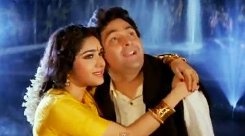 Rishi Kapoor with Meenakshi Seshadri in Damini