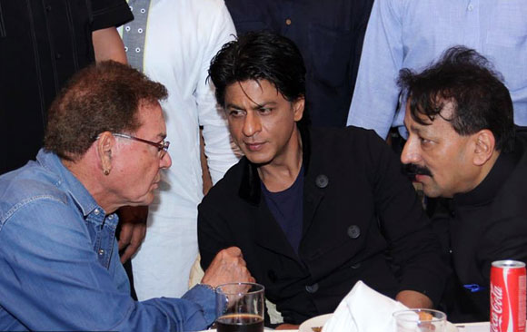 Salim Khan, Shah Rukh Khan and Baba Siddique
