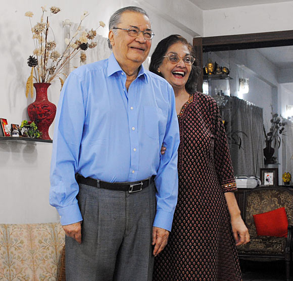 Deven Varma with wife Rupa Ganguly