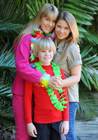Terri, Bindi and Robert Irwin
