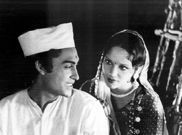 Ashok Kumar and Devika Rani in Achhut Kanya