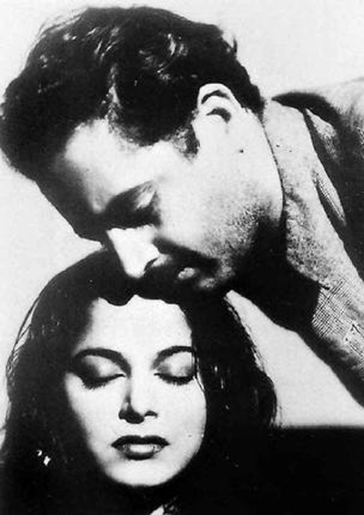 Guru Dutt and Waheeda Rehman in Pyaasa