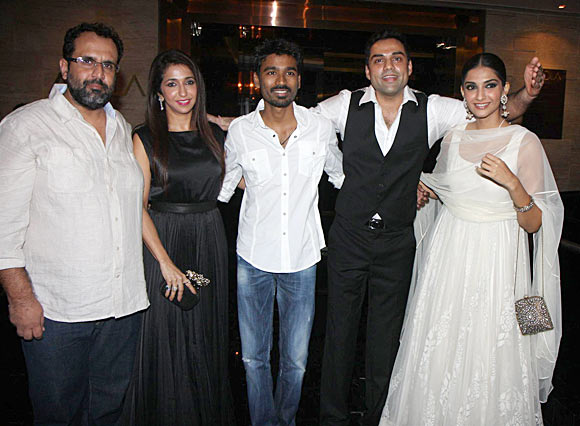 Aanand L Rai, Krishika Lulla, Dhanush, Abhay Deol and Sonam Kapoor