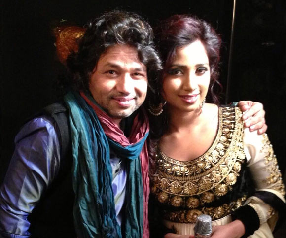 Kailash Kher and Shreya Ghoshal