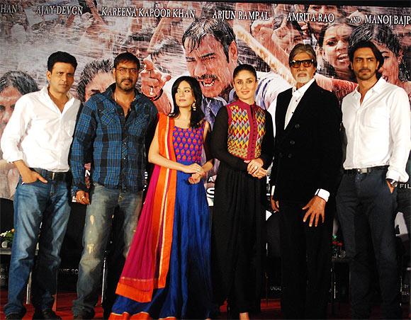 Manoj Bajpayee, Ajay Devgn, Amrita Rao, Kareena Kapoor, Amitabh Bachchan and Arjun Rampal