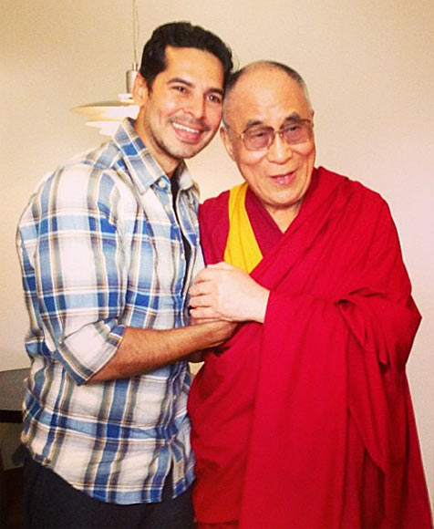 Dino Morea and Dalai Lama