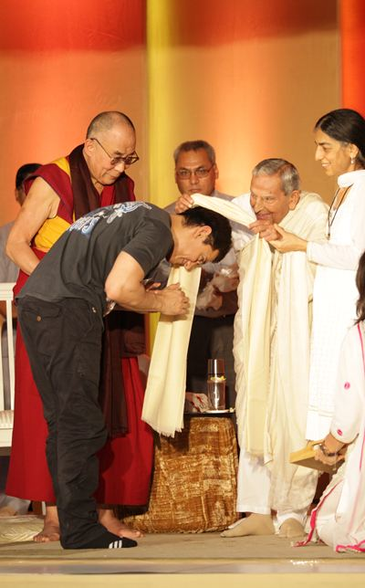 Aamir Khan, the Dalai Lama and J P Vaswani