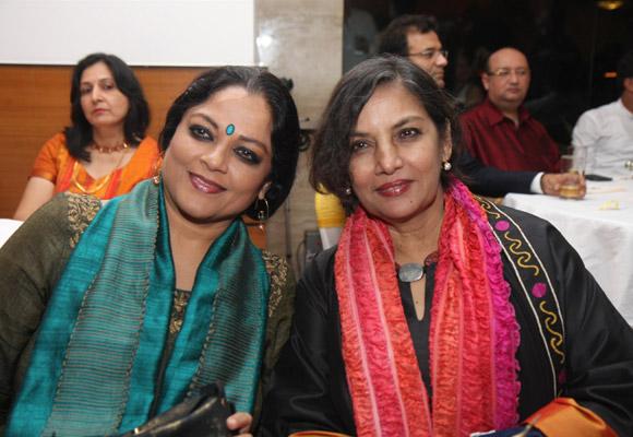 Tanvi Azmi with Shabana Azmi