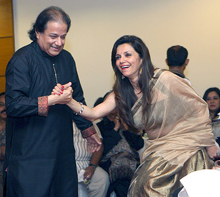 Anup Jalota and Lillete Dubey