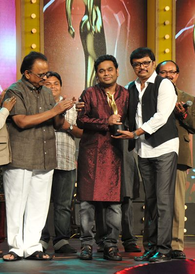 A R Rahman receives his award