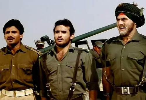 Suneil Shetty, Akshaye Khanna, Puneet Issar in Border