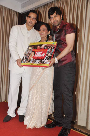Munjoy, Neelam and Sujoy at the Love in Bombay music launch
