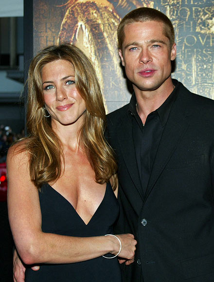 Jennifer Aniston and Brad Pitt in happier times