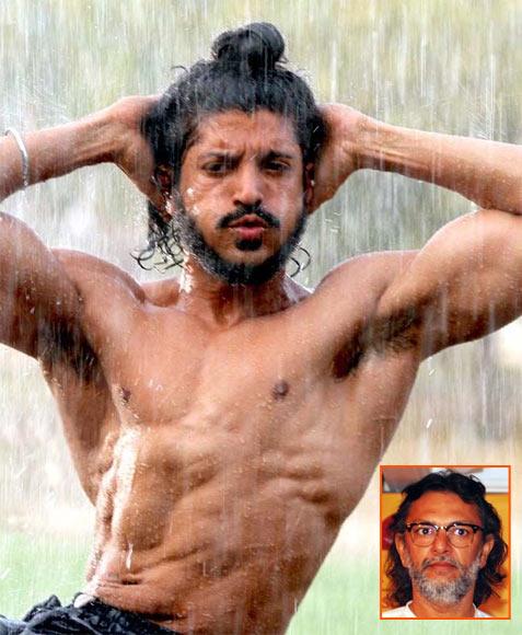 Farhan Akhtar in Bhaag Milkha Bhaag. Inset: Rakeysh Omprakash Mehra