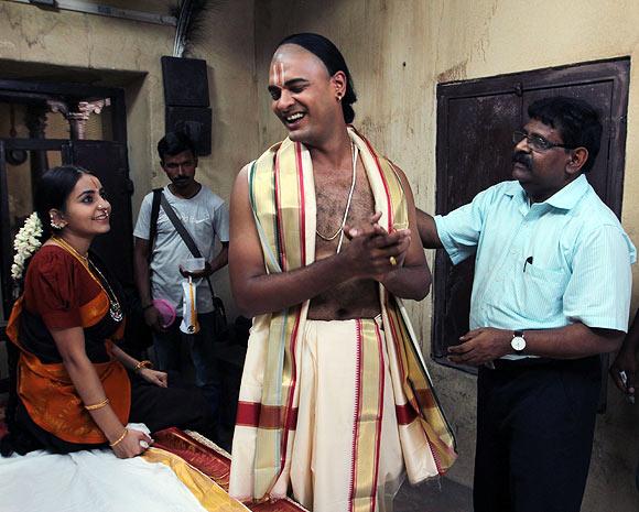 Bhama, Abhinay Vaddi with director Gnana Rajasekharan
