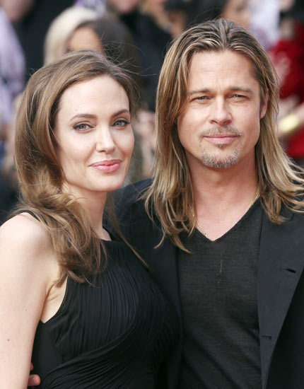 An gelina Jolie and Brad Pitt