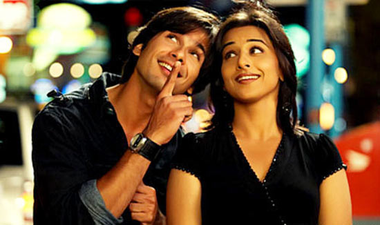 Shahid Kapoor and Vidya Balan in Kismat Konnection