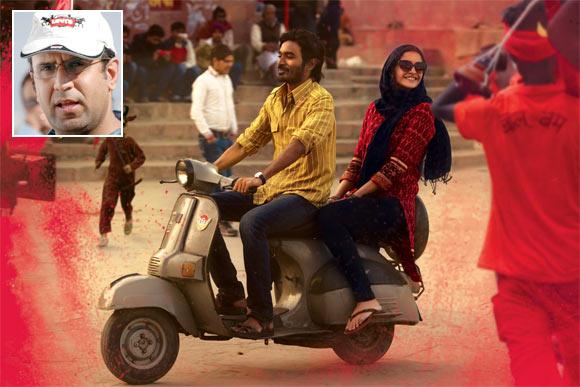 Dhanush and Sonam Kapoor in  Raanjhanaa. Inset: Director Aanand L Rai