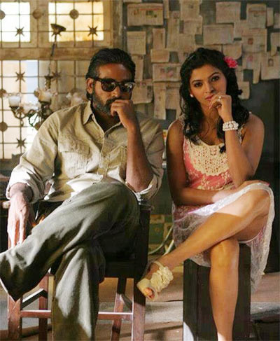 Vijay Sethupathi and Sanchita Shetty in Soodhu Kavvum