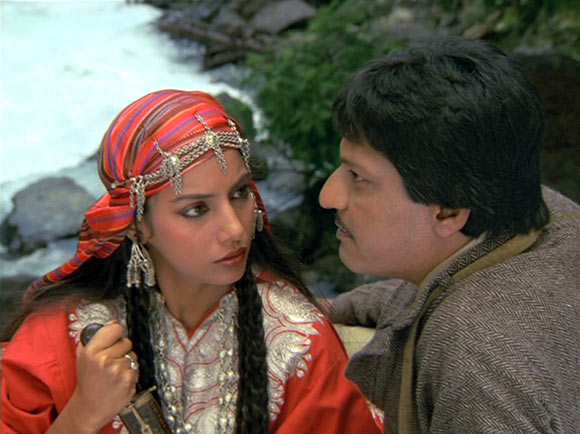 Shabana Azmi and Amol Palekar in Khamosh
