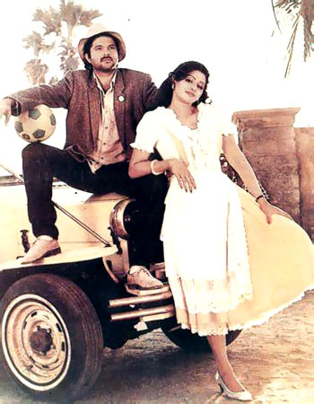 Anil Kapoor and Sridevi in Mr. India