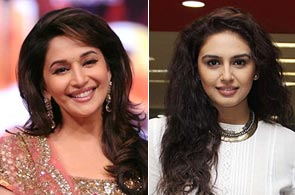 Madhuri Dixit and Huma Qureshi