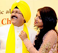 Dr Ashok Chopra and Priyanka Chopra