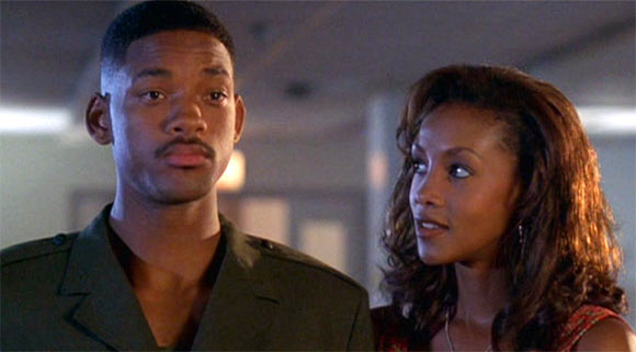 Will Smith and Vivica Fox in Independence Day