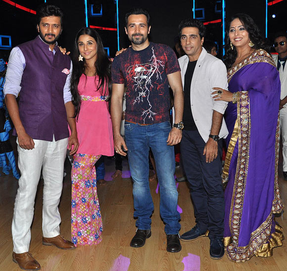 Riteish Deshmukh, Vidya Balan, Emraan Hashmi, Ashley Lobo and Geeta Kapoor