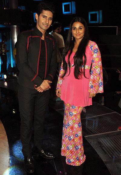 Ravi Dubey and Vidya Balan