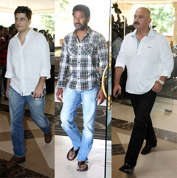 Goldie Behl, Rakesh Roshan and Prabhudeva