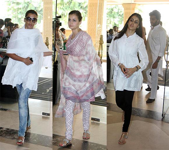 Mughda Godse, Dia Mirza, Genelia D'souza and Ritesh Deshmukh